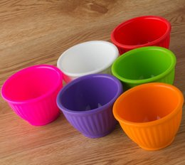 Wholesale Children Security - High quality children silicone bowl Circular security environmental protection food grade silicone bowl 6 colors wa4032