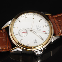 Wholesale Vintage Male Watches - Wholesale- SEWOR Brand Classic Business Wrist Watch Men Automatic Mechanical Watches Vintage Dress Reloj Top Leather Strap Male Clock Case