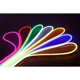 Wholesale Power Eu Meter - 20m 30m 50m 100m LED Neon Strip Lights 120 LED Meter 2835 Flexible Neon Light Waterproof Outdoor Decorative LED Strip + EU Power Plug