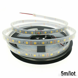 Wholesale White Tape Fish - Silicone Cannula IP67 Waterproof 5050 5M LED Strip light DC12V 60LEDs M Ribbon Tape Decoration Swimming Pool  Fish Tank Bathroom