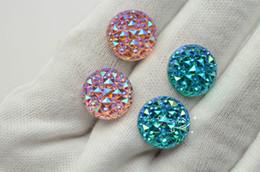 Wholesale Wholesale Acrylic Gems Flat Back - 300 pcs 14mm AB Multi Faceted Gem Round Acrylic Flat Back Jewels