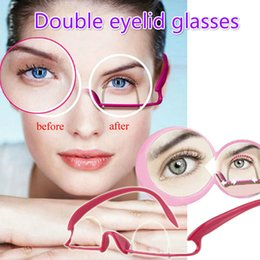Wholesale Eyelid Glasses - Women Top fashion Double eyelid glasses exercise artifact forming device Double-fold Eyelids Trainer Glasses Invisible Fiber