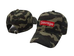 Wholesale Wholesale Strapback Cheap - Wholesale- New 2017 savage hat dad camouflage 6 panel baseball hat strapback spring summer cheap cool hats