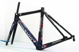 Wholesale Colnago Road Bike Frames - Blue Colnago C60 T1000 Full carbon fiber road bike frameset carbon bike frame BB386 size finish glossy matte