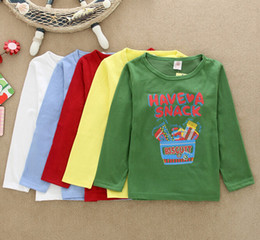 Wholesale Cheap Girls Fashion Clothing - Wholesale- 2017 new fall fashion Korean style children Tshirt cheap long-sleeved children clothing boys girls casual pretty t-shirt