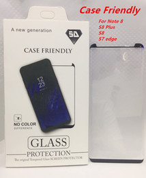 Wholesale Used Edge - Case Friendly For Samsung Galaxy S8 S8 Plus Note 8 Note8 Small Type 3D Curved Tempered Glass Screen Protector Using With Any Cases