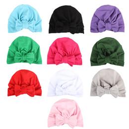 Vendita calda neonate caps cappello grande arco europa stile turbante nodo capo avvolge india cappelli orecchie orecchie copertura bambini bambini boemia beanie bk412 da