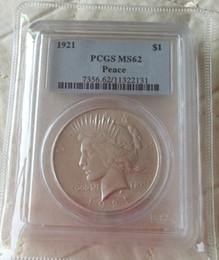 Argentina Venta al por mayor venta caliente PCGS 1921 MS62 / MS63 / MS66 // 1924-S MS65 Peace One Dollar Coin / ENVÍO GRATIS Suministro
