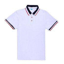 Wholesale Class Clothes Men - Vogue of new fund of 2017 high-grade pure cotton clothing fashion men's polo shirt class custom short sleeve lapel t-shirts wholesale high