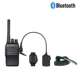 Wholesale Two Way Headset Walkie Talkie - Walkie Talkie Bluetooth Headset For Kenwood PTT Speaker Microphone For Motorola Earpiece PC Two Way Radio Bluetooth Earpiece