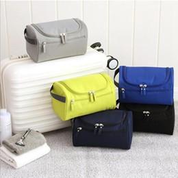 Wholesale Necessaries Makeup - Waterproof Men Hanging Makeup Bag Nylon Travel Organizer Cosmetic Bag for Women Large Necessaries Make Up Case Wash Toiletry Bag YYA366