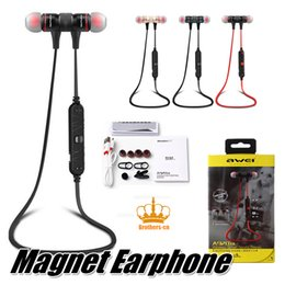 Wholesale Headphone Sport Fashion - With Retail package Original Wireless Bluetooth 4.1 Stereo Earphone Fashion Sport Running Headphone Studio Music Headset for Iphone 7 S6 5 4
