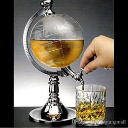 Wholesale Novelty Drinks Dispenser - Funny Novelty Globe Shaped Beverage Liquor Dispenser Drink Wine Beer Pump Single Canister Pump High Quality Hip Flasks