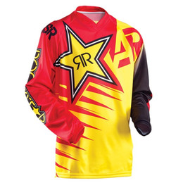Wholesale Mtb Full - New product 2017 ANSWER RockStar moto Jersey MX MTB Off Road Mountain Bike DH Bicycle Cycling Jersey DH BMX motocross jersey