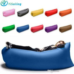 Wholesale 75l Outdoor Bag - Outdoor Inflatable Air Sleeping Bag Portable Sofa Hangout Lounger Air Boat Air Lazy Sofa Inflate Camping Beach Sleeping Bed Hammock 10 color