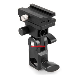 Wholesale Umbrella Holders Stands - Wholesale-Hot sale Flash Stand Bracket B for camera Flash Shoe Swivel Light Umbrella Holder Free Shipping +Tracking number
