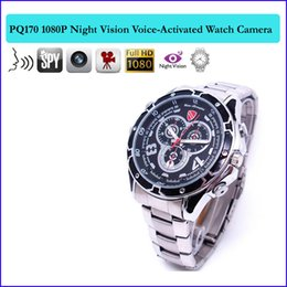 Wholesale Night Vision Hidden Cctv - 32GB memory FULL HD 1080P Night Vision Watch Camea Hidden Camcorder spy CCTV Night Vision Watch Camera with IR light Voice-activate PQ170