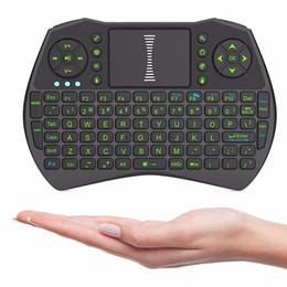 Rii I9 Inteligente Fly Air Mouse Luz de Fundo Remoto i8 2.4 GHz Teclado Sem Fio vem com Controle Touchpad Para MXQ M8S X92 TV Box Livre DHL de
