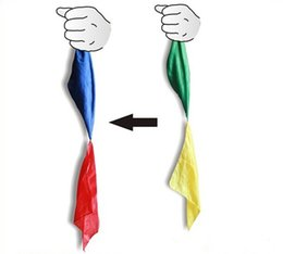 Wholesale Magic Tricks Free Shipping - 2017 Wholesale New Magic Trick 4 Colors Scarf Changing Close-up Street Party Easy Show Magic toys gift free shipping