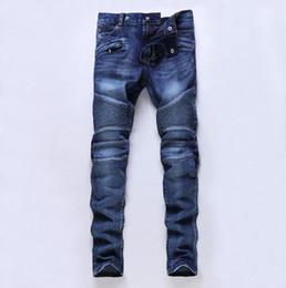 Canada Style américain européen 2017 hommes de la marque de mode de designer hommes de jeans de luxe Pantalons de denim hommes mince droite jeans pop bleu gentleman Offre