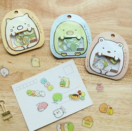 Wholesale Printed Stickers - Korean DIY Cute Cartoon Kawaii PVC Stickers Memo Pads Cute Transparent Bear Cat Sticker Diary Decoration C2031