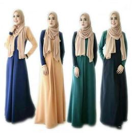 La Turquie musulmane Robes Élégant Contraste Couleur Femmes Robe Longue Caftan Marocain Musulman Abaya Robe En Gros Islamique Casual Vêtements ? partir de fabricateur