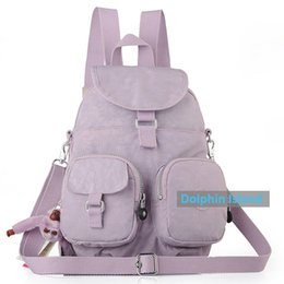 Wholesale Travelling Backpacks Army Green - 2017 New High Quality Unisex Super Light Nylon Lady Backpack Women Men Outdoor Fashion Schoolbag Travelling Bags Backpack dhY-507