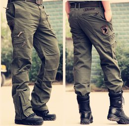 Wholesale Jeans Sizes 28 - Tactical Male 101 Airborne Jeans Casual Plus Size Cotton Breathable Multi Pocket Tactical Army Camouflage Cargo Pants For Men