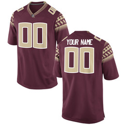 Wholesale Fsu Jersey - Customized Jersey FSU Men Limited Red College Football Custom Embroidery Logos Stitched Jerseys
