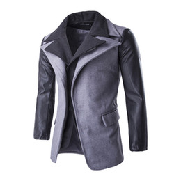 Wholesale Woolen Suits For Men - New Fashion Men Blazers Brand Suits for Men Outerwear Casual slim fit blazer jacket Free Shipping