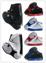 Wholesale Best Shoes Boots - 2018 best 18 man basketball Shoes Blue Black Red A sport sneaker shoes Sports Shoes good 18s Replicas Athletics Boots Free shipping