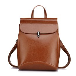 Wholesale Casual Fashion For Teenage Girls - high quality cow split leather women backpack vintage backpack for teenage girls casual bags female shoulder bags