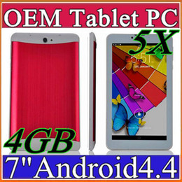 Wholesale Cheap Android Gps Phone - 5X MES 2017 cheap 7 inch 3G Phablet Android 4.4 MTK6572 Dual Core 4GB Dual SIM GPS Phone Call WIFI Tablet PC With Bluetooth EBOOK B-7PB