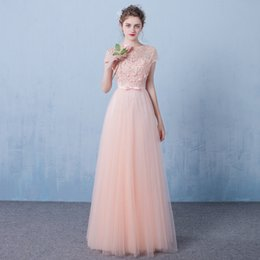 Wholesale Cheap Fashion Leather Jackets - Light Pink Lace Evening Dress 2017 Lace Up Back Bridal Gowns Cheap In Stock Real Photo Vestidos De Novias Under 100