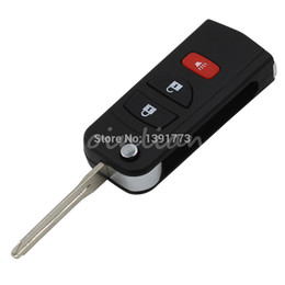 Wholesale Blank Car Keys Dodge - car Remote Folding Key Flip Shell Case Uncut Blank For Chrysler Dodge Stratus Jeep 3 Buttons