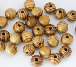 Wholesale Pine Flowers - Pine Natural Round Wood Spacer wooden Beads Fit for bracelet necklace DIY jewelry Making 500 pcs