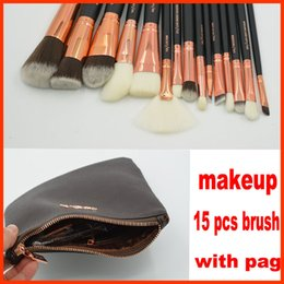 Wholesale Faces Shipping - ZOV Makeup Brushes Set 15 pcs face and eyes brushes with pag DHL free shipping