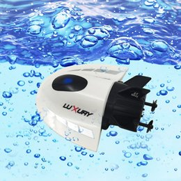 Wholesale Submarines Toys - Wholesale-CREATE TOYS 3314 Ready-to-go Mini Radio Control Boats Sightseeing Submarine 5CH 27Mhz   40Mhz Transmitter RC Toy