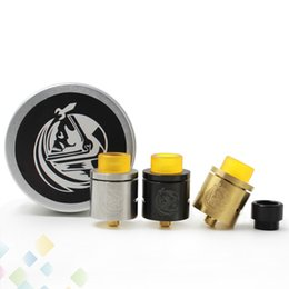 Wholesale Gold Drip Tips - CSMNT RDA COSMONAUT Atomizer Clone Rebuildable 24K Gold Plated Deck Wide Bore Drip Tip Fit 510 Mods DHL Free