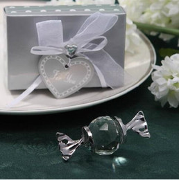 Wholesale Ornament Gift Boxes Wholesale - Crystal candy shape wedding ornaments with sliver gift box baby shower gift baby full birthday gift