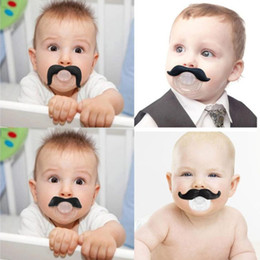 Wholesale Teeth Orthodontic - baby pacifier funny pacifier Cute Teeth Mustache Baby Boy Girl Infant Pacifier Orthodontic Dummy Beard Nipples Pacifiers safe Free shipping