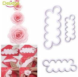 Wholesale Cake Decorating Cutters Flowers - Wholesale,3pcs set Rose Flower Cookie Cutter Fondant Cake Decorating Tools Sugarcraft Biscuit Cutter for Kitchen Baking Tool, Free Shipping.