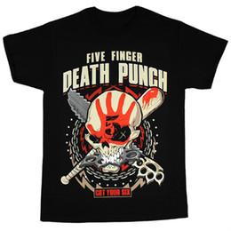 Wholesale death shirts - Fashion t-shirt Five Finger Death Punch Men's Zombie Kill T-Shirt Black man t-shirts