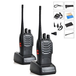 Wholesale Two Radios - Wholesale- 2PCS LOT Baofeng BF-888S Walkie Talkie 5W Handheld Pofung bf 888s UHF 400-470MHz 16CH Two-way Portable CB Radio Free shipping