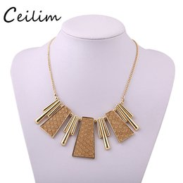 Wholesale Covering Chain Necklace Wholesale - Jewelry new arrivals statement necklaces with leather cover charm pendant gold alloy plating long chain necklace for women gift wholesaler