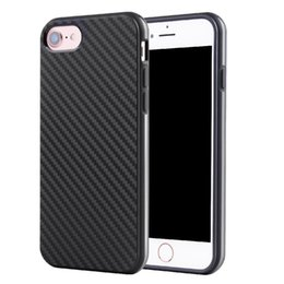 Wholesale Iphone Cover Silicone Gel - For iphone 7 TPU Fiber Carbon Phone Case Gel Soft Silicone Cover for iphone6 6 Plus 6S 5 SE