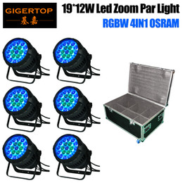 Wholesale Function House - 6in1 Flightcase Pack 19x12W Zoom Led Waterproof Par Cans Aluminum Housing DMX Auto Master-slave Sound Function 19x12W OS-RAM LED