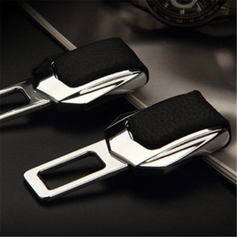 Wholesale Leather For Car Seats - Hot 2017 Car Styling Car LOGO Leather Seat Belt Cover For All Cars Model Car Accessories Safety Belt Harness Chest Clip Buckle