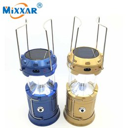 Wholesale Cable Hands Free - DHL free Shipping Portable Outdoor LED Camping Lighting Solar Charger Lantern Rechargeable Charging Cable USB port Hand Crank Light Lamp