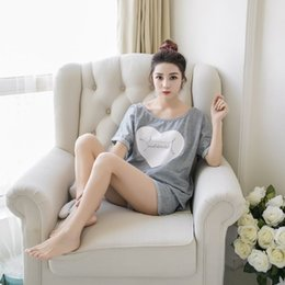 Wholesale Girls Pyjama S - Wholesale- Pyjama Femmel Coton 2017 Summer Women Pajama Sets Girls Lovers Pijamas Mujer Sleepwear Sets Home wear clothing
